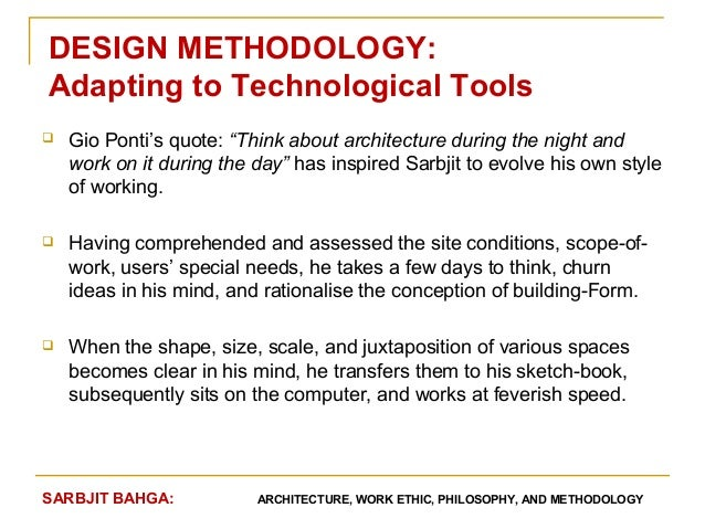 Architecture Design Philosophy contemporary architecture design methodology a flow of analysis