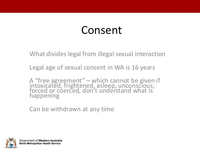 Consent What divides legal from illegal sexual ...