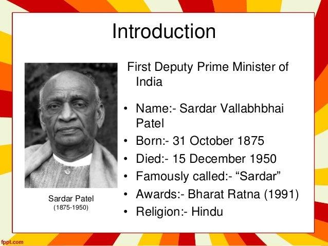 autobiography of sardar vallabhbhai patel