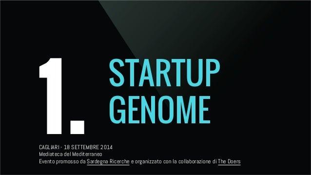 1. STARTUP  GENOME  CAGLIARI - 18 SETTEMBRE 2014  Mediateca del Mediterraneo  Evento promosso da Sardegna Ricerche e organ...