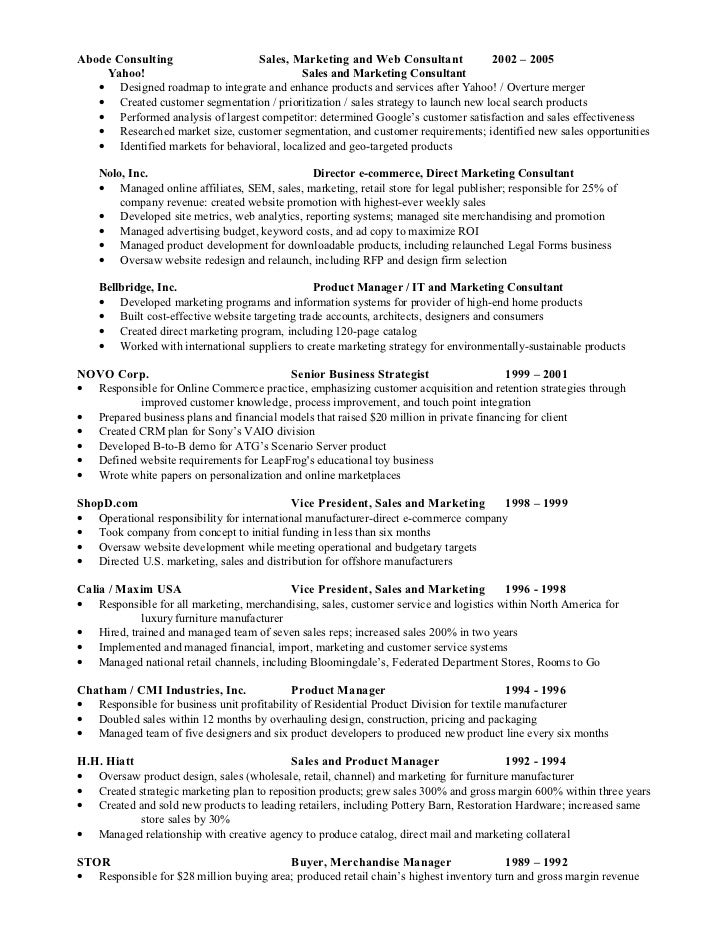 search marketing 2 - Wholesale Buyer Resume