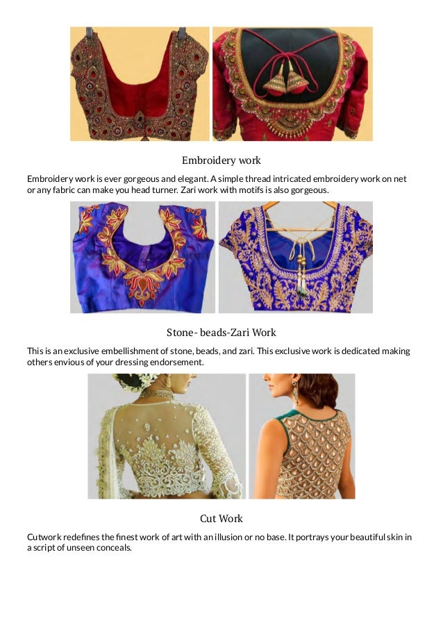 Saree Blouse Design In 50 Styles