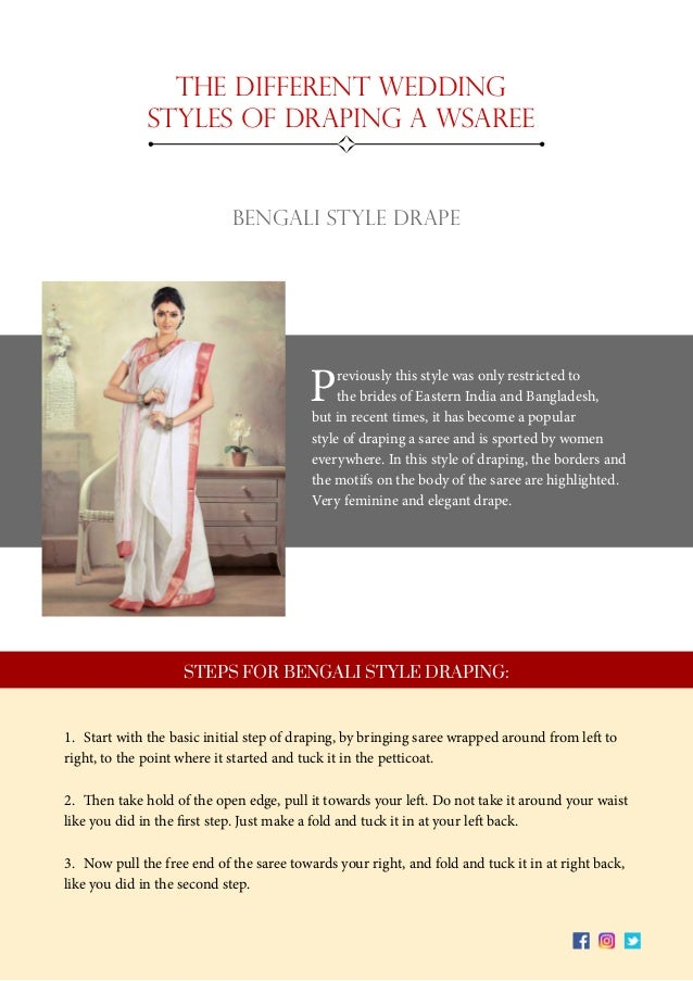 10. 10 The Different Wedding Styles Of Draping ...