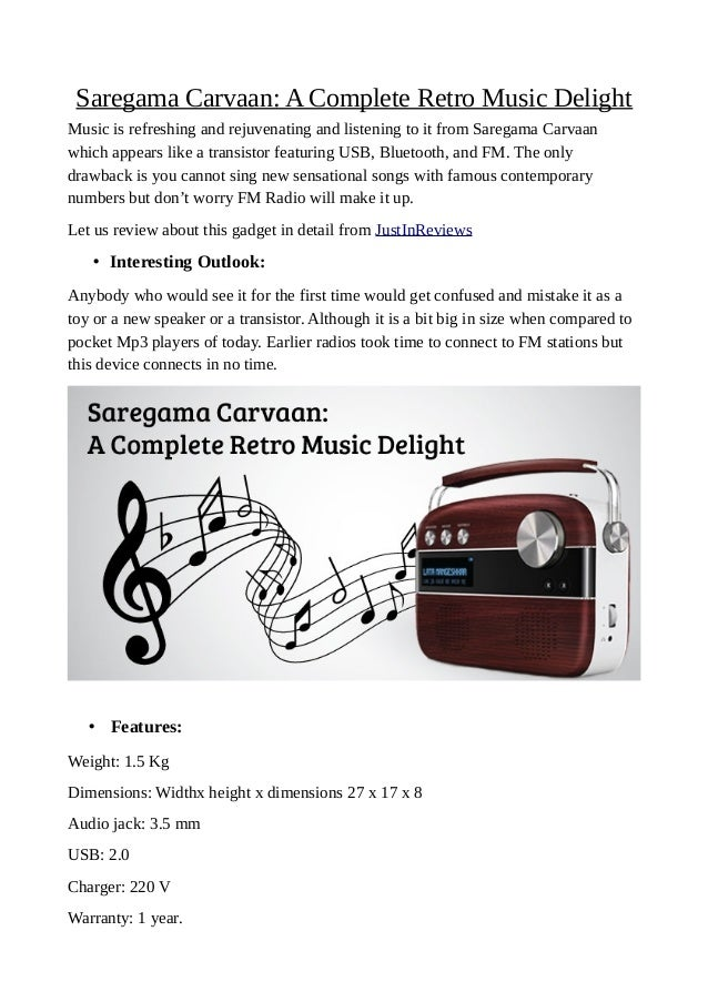 Saregama carvaan: a complete retro music delight