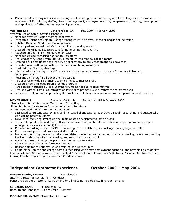 2 3 - Employee Relation Manager Resume