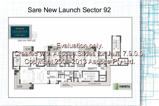 Sare New Launch Sector 92  Evaluation only. Acme Ozone Phase II Created with Aspose.Slides for Java 7.9.0.0. Copyright 200...