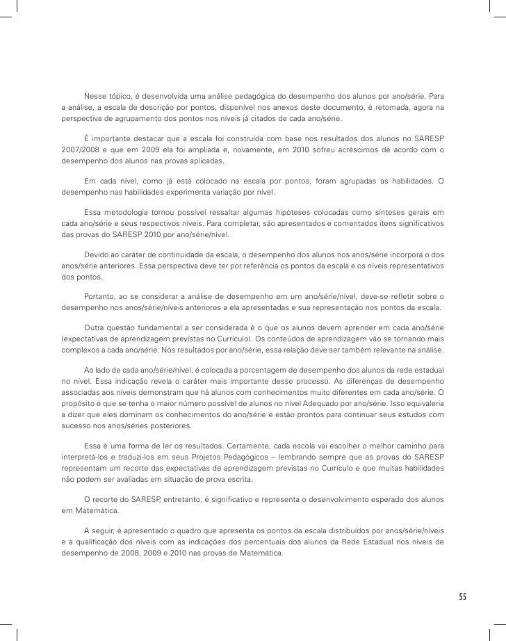 BAIXAR SARESP PROVAS DO 2010