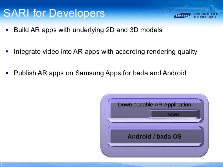 Samsung augmented reality image sdk bada android for Android ar sdk