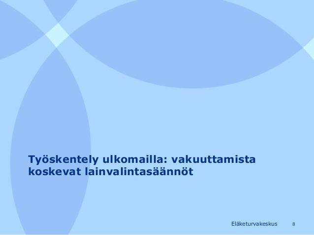 työnteko ulkomailla Rovaniemi