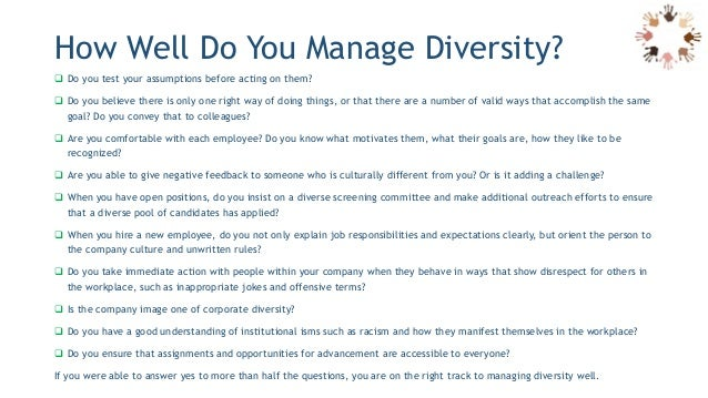 challenge workplace diversity essay Free sample essay on managing diversity in the workplace free example research paper on diversity in the workplace buy custom essays though, as the same time, it is one of the biggest challenges in terms that it, as we saw above, creates discrimination.