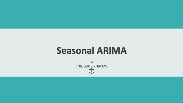 Seasonal ARIMA
