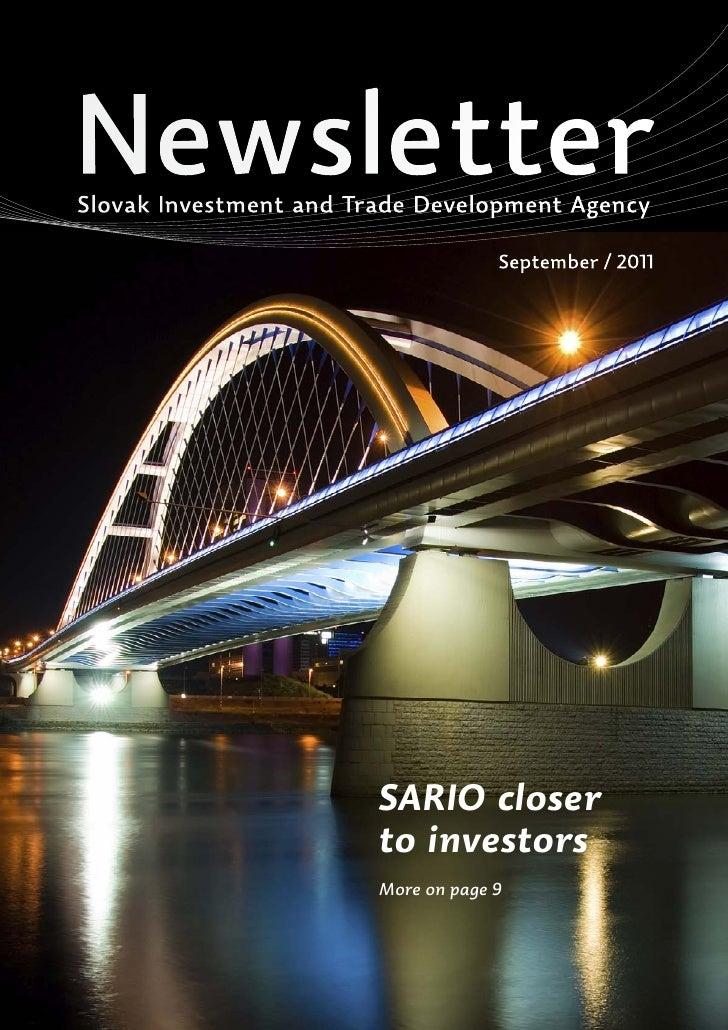 NewsletterSlovak Investment and Trade Development Agency                                     September / 2011             ...