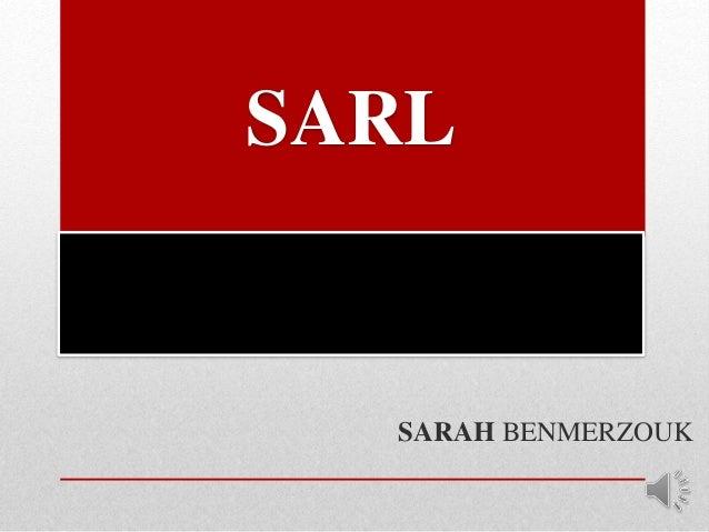 SARL SARAH BENMERZOUK