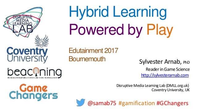 Sylvester Arnab, PhD ReaderinGame Science http://sylvesterarnab.com DisruptiveMediaLearningLab(DMLL.org.uk) CoventryUniver...