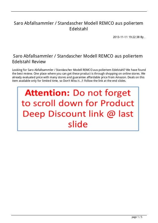 Saro Abfallsammler / Standascher Modell REMCO aus poliertem Edelstahl 2013-11-11 19:22:38 By .  Saro Abfallsammler / Stand...