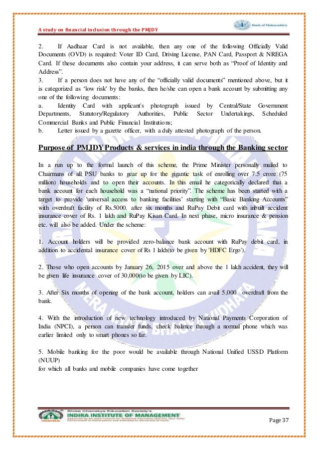 essay on pm jan dhan yojana