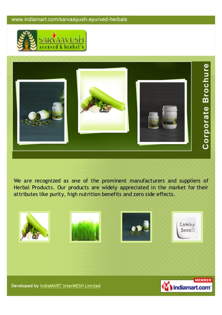 We are recognized as one of the prominent manufacturers and suppliers ofHerbal Products. Our products are widely appreciat...
