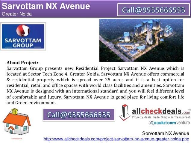Sarvottam NX Avenue a Prefect Address For Luxury Apartments Slide 2