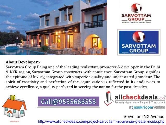 Sarvottam NX Avenue a Prefect Address For Luxury Apartments Slide 3