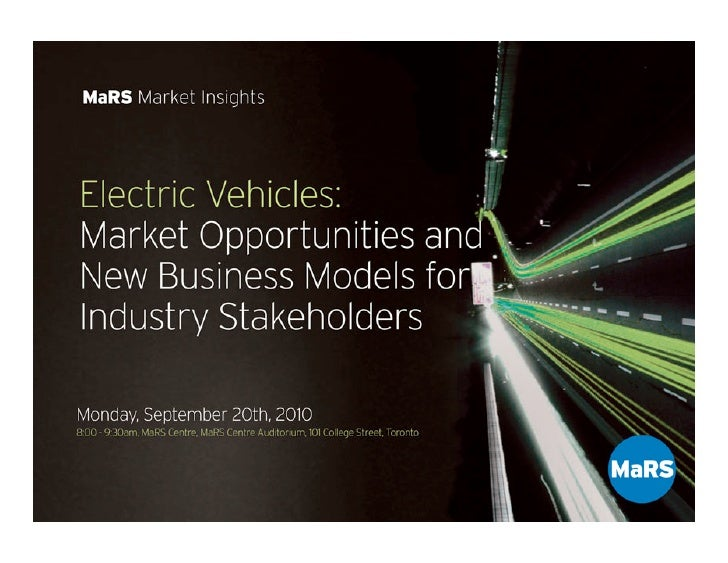 Electric Vehicles: Market Opportunities and New Business Models for Industry              Stakeholders                    ...