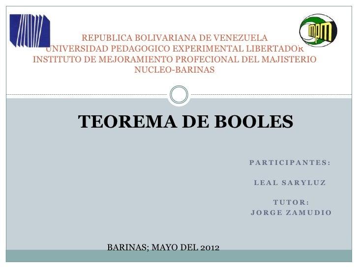 REPUBLICA BOLIVARIANA DE VENEZUELA  UNIVERSIDAD PEDAGOGICO EXPERIMENTAL LIBERTADORINSTITUTO DE MEJORAMIENTO PROFECIONAL DE...