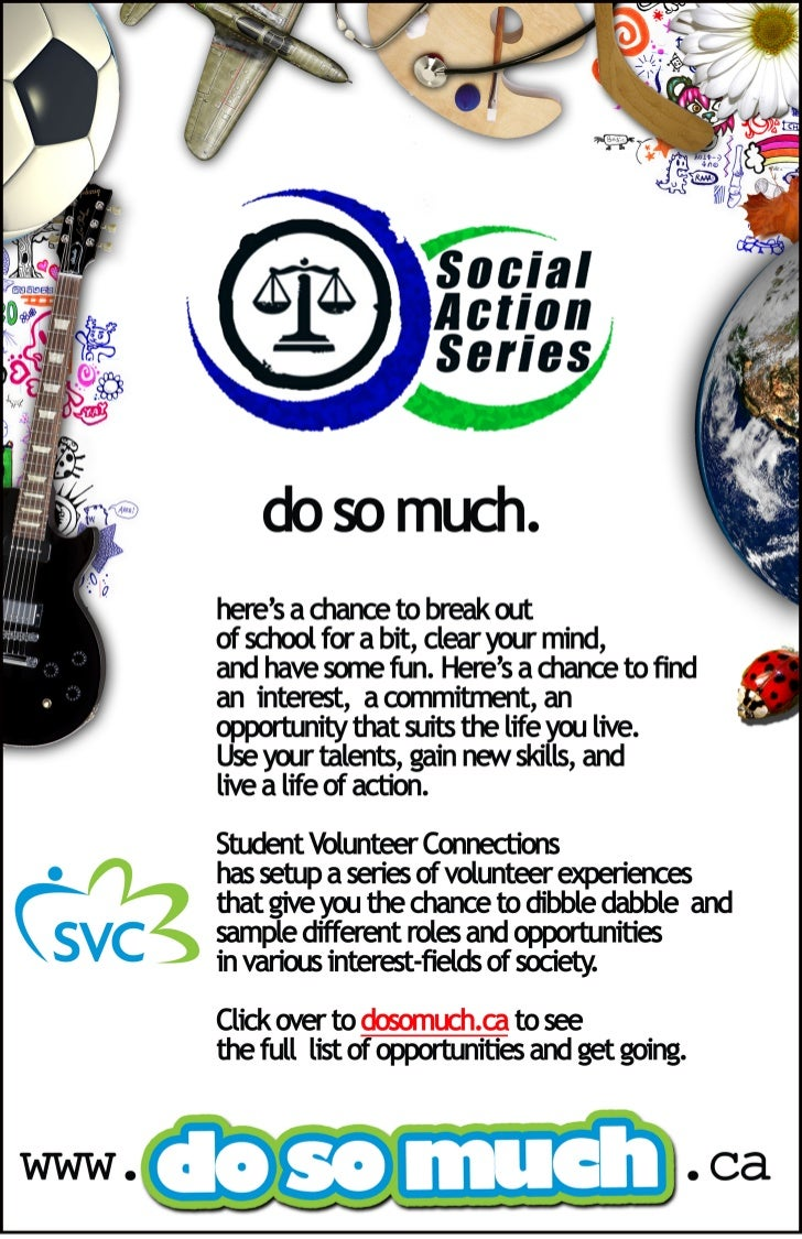Poster for Social Action Series