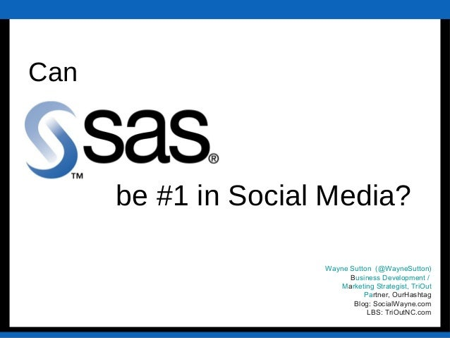 Text Wayne Sutton (@WayneSutton) Business Development / Marketing Strategist, TriOut Partner, OurHashtag Blog: SocialWayne...