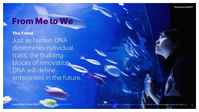 13 #techvision2021 Technology Vision 2021 | The Analytics Angle with SAS From Me to We Just as human DNA determines indivi...