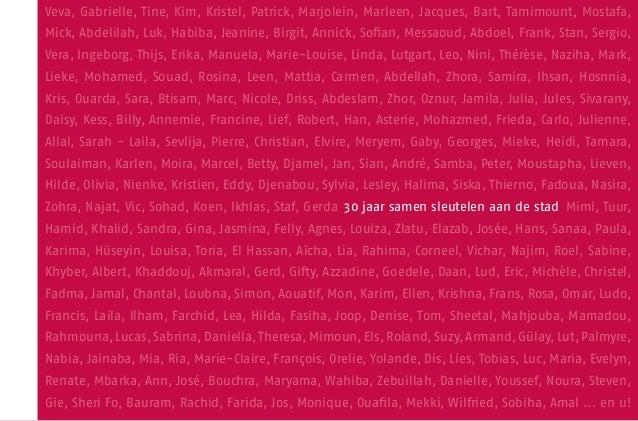 30 jaar samen sleutelen aan de stad door Samenlevingsopbouw Antwerpen stad vzw Slide 3