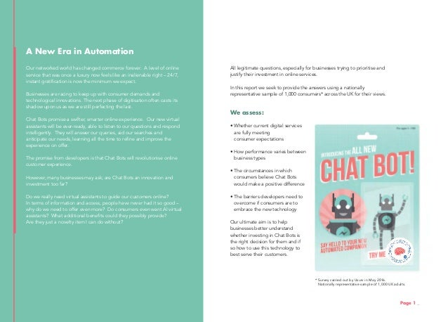 Chatbots: A Consumer Research Study Slide 3