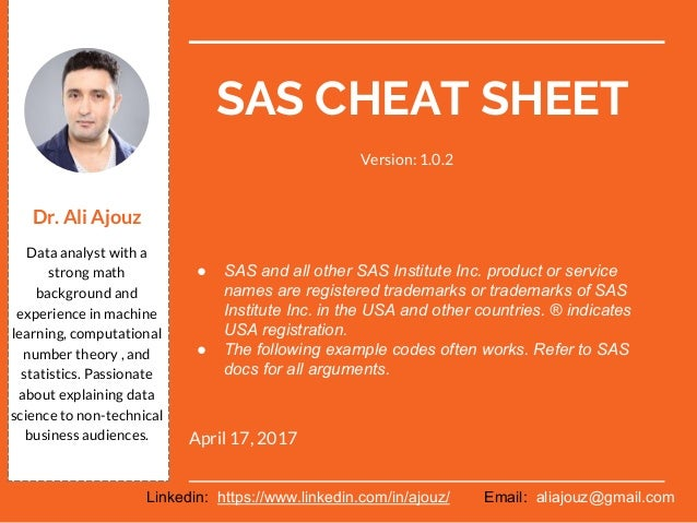 SAS cheat sheet