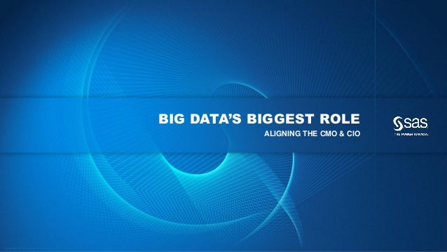 BIG DATA'S BIGGEST ROLE                                                                                                   ...