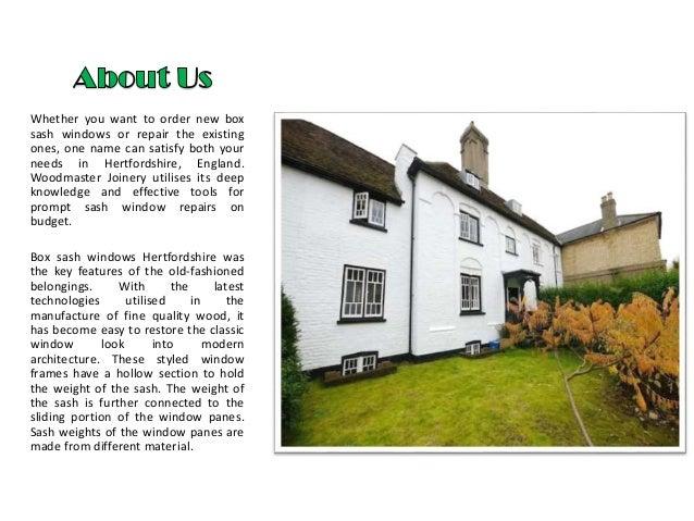 Sash window repairs hertfordshire