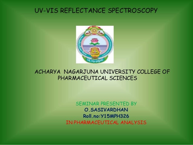 applications of uv visible spectroscopy pdf