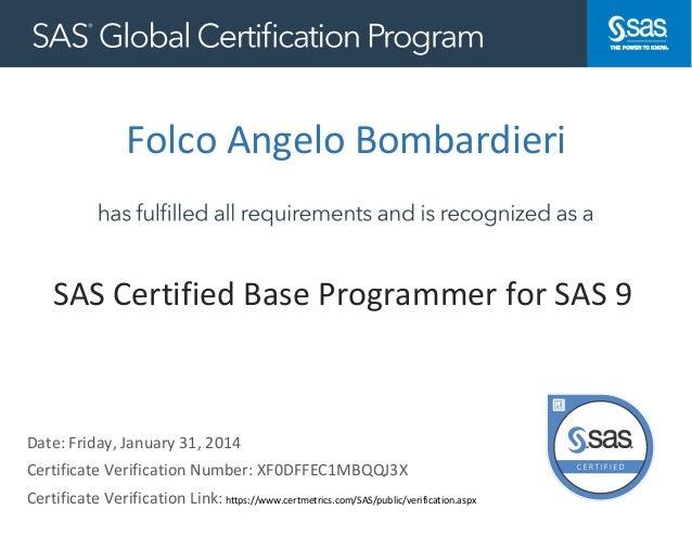 sas base certification slideshare programmer upcoming