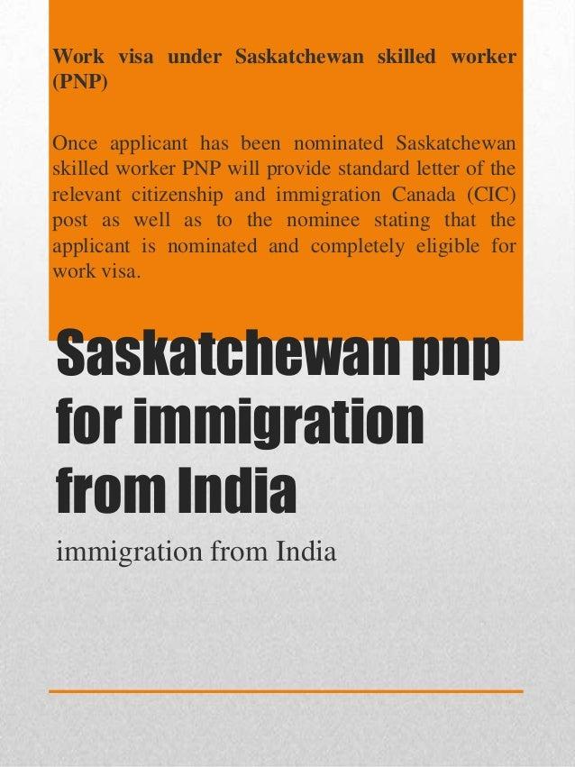 Saskatchewan pnp for immigration from india Slide 3