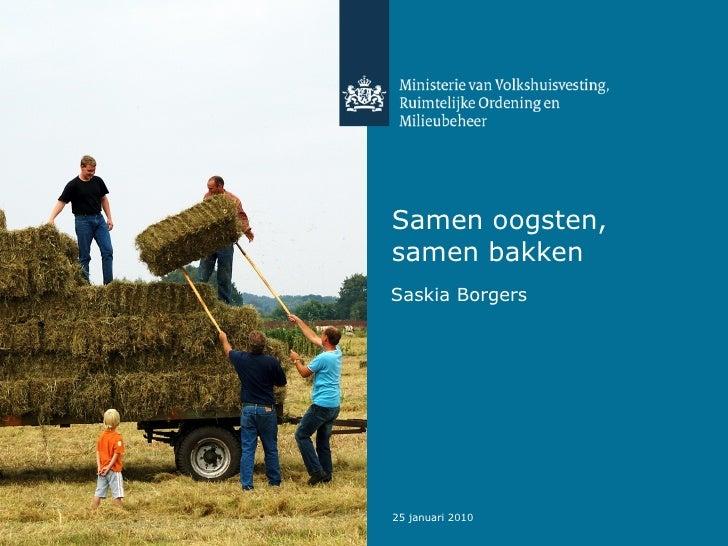 Samen oogsten, samen bakken Saskia Borgers