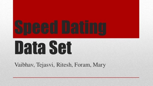Speed dating kaggle