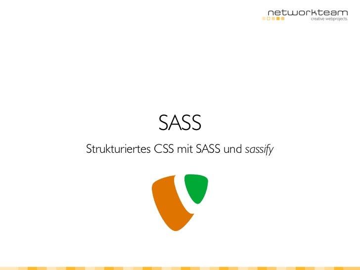 SASSStrukturiertes CSS mit SASS und sassify