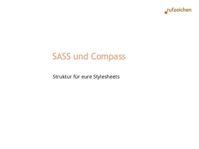 SASS und CompassStruktur für eure Stylesheets