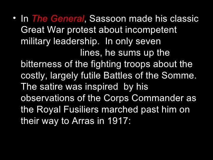 Siegfried sassoon the general essay