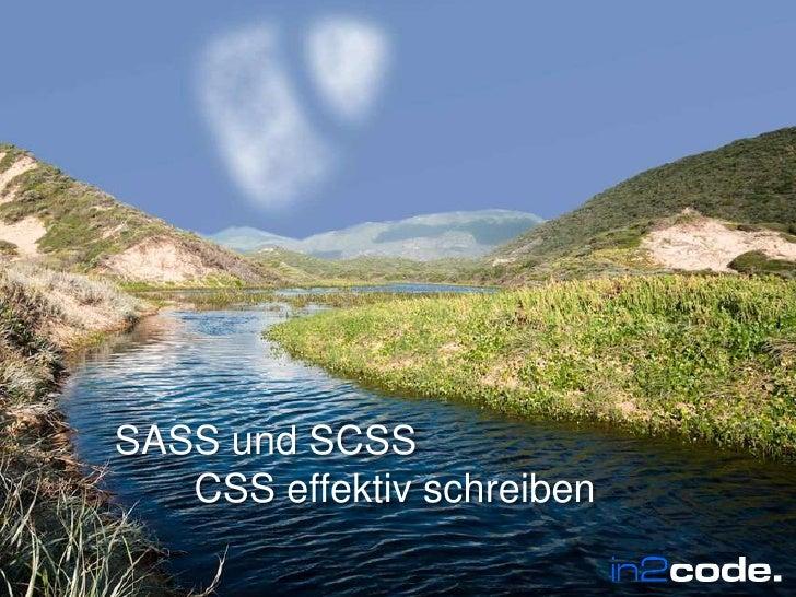 SASS und SCSSCSS effektiv schreiben<br />