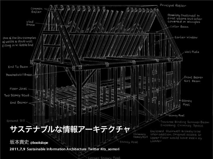 @bookslope2011,7,9 Sastainable Information Architecture Twitter #its_aomori