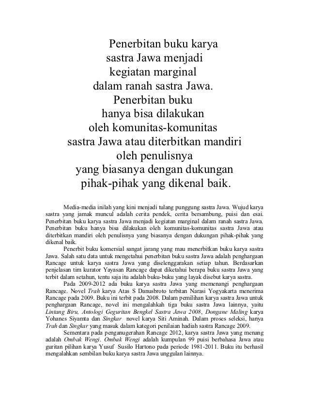 Sastra Jawa Melawan Globalisasi