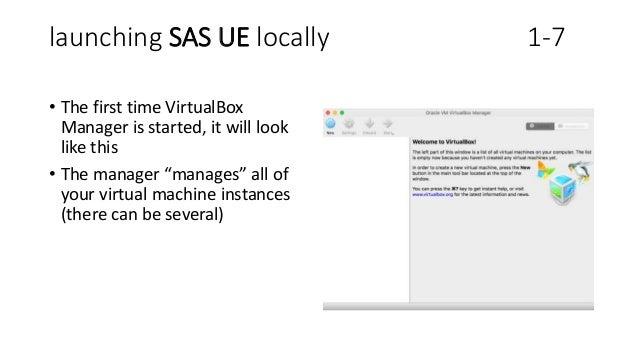 how to run sas university edition