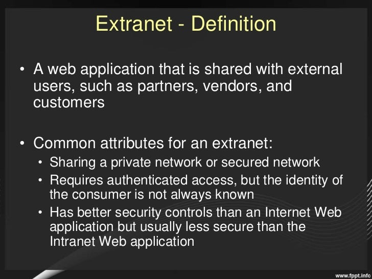SharePoint 2010 Extranets and Authentication: How will SharePoint 2010 connect you to your partners? Slide 3