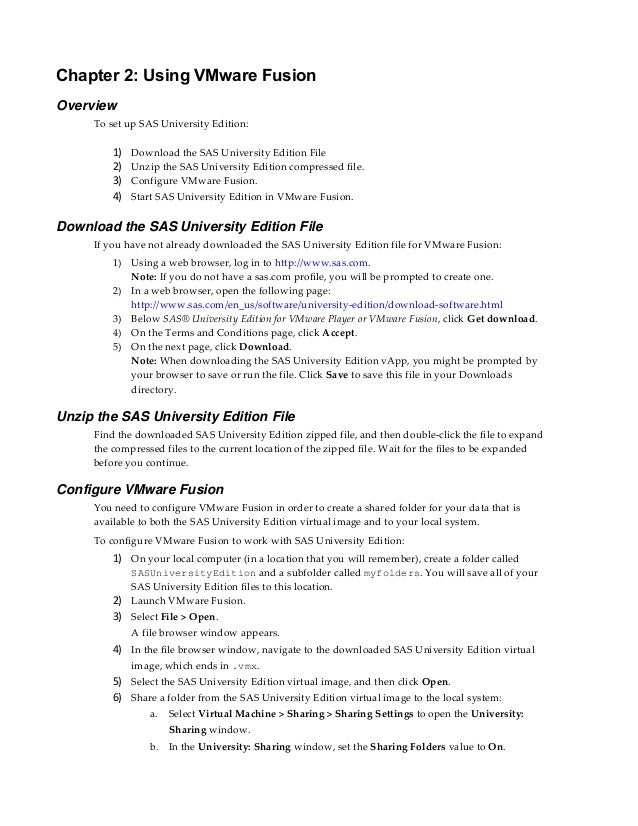 Sas university edition install guide mac