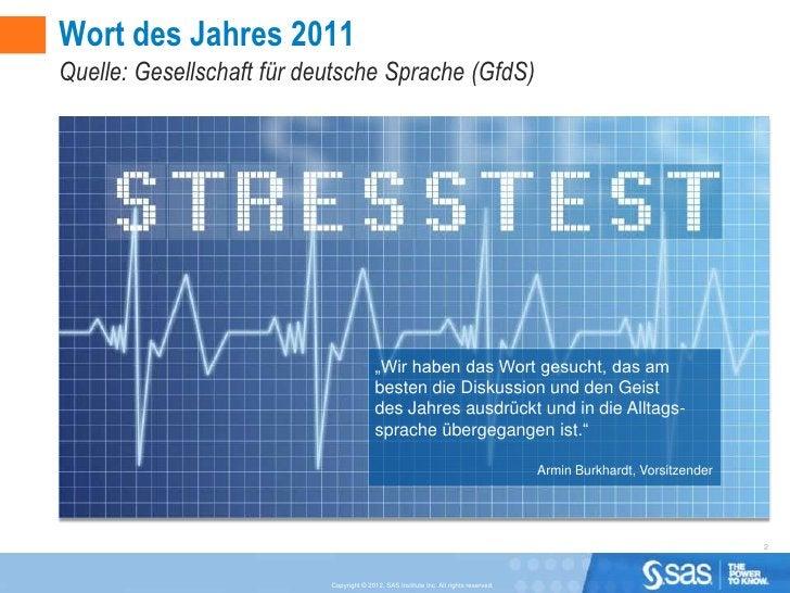 """Wort des Jahres 2011Quelle: Gesellschaft für deutsche Sprache (GfdS)                                          """"Wir haben d..."""