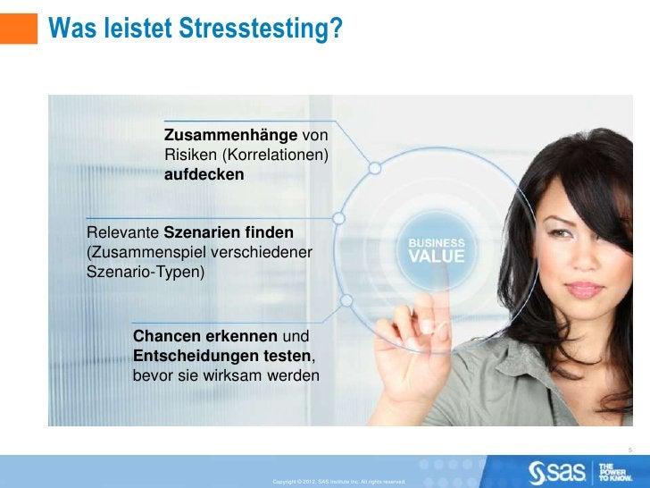 Was leistet Stresstesting?            Zusammenhänge von            Risiken (Korrelationen)            aufdecken   Relevant...