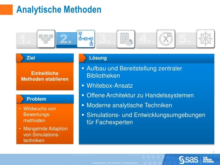 Analytische Methoden   Ziel                  Lösung                        Aufbau und Bereitstellung zentraler     Einhei...